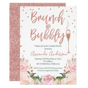 Rose Gold Brunch Bubbly Bridal Shower Invitations starting at 2.15