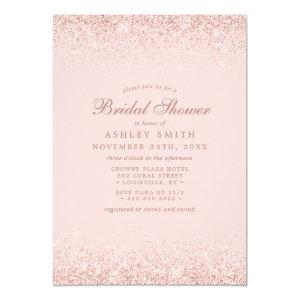 Rose Gold Confetti Blush Pink Modern Bridal Shower Invitation starting at 2.55