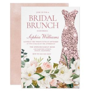 Rose Gold Dress Blush White Bridal Shower Brunch Invitation starting at 2.40