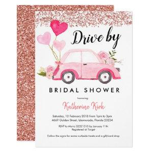 Rose Gold Drive by Bridal Shower Invitation starting at 2.55
