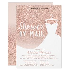 Rose gold glitter dress Bridal shower by mail Invitation starting at 2.15