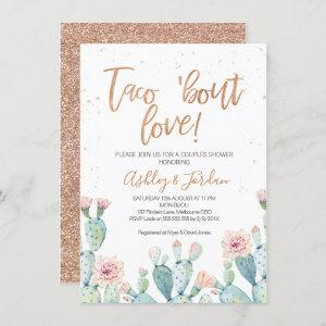Rose Gold Taco ''bout Love Couples Shower Invitation starting at 2.10