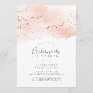 Rose Gold Watercolor Bridesmaids Luncheon Invitation starting at 2.51