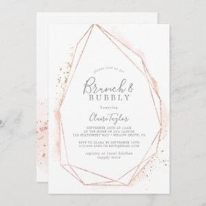 Rose Gold Watercolor Brunch & Bubbly Bridal Shower Invitation starting at 2.51