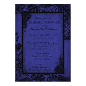 Royal Blue and Black Lace Gothic Bridal Shower Invitation starting at 2.82