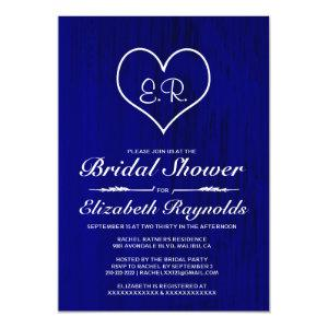 Royal Blue Country Bridal Shower Invitations starting at 2.66