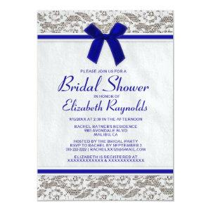 Royal Blue Country Lace Bridal Shower Invitations starting at 2.66