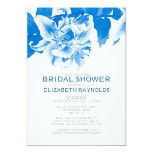 Royal Blue Flower Bridal Shower Invitations starting at 2.66