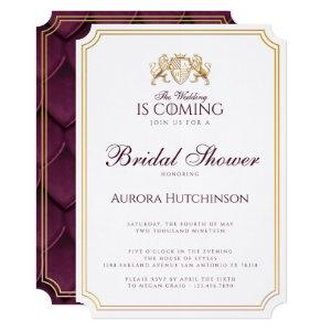 Royal Muse Fantasy Dragon Scale Bridal Shower Invitation starting at 3.60