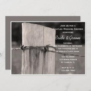 Rural Fence Post Couples Country Wedding Shower Invitation starting at 2.60