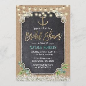 Rustic Anchor Baby's Breath Floral Bridal Shower Invitation starting at 2.40
