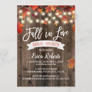 Rustic Autumn Leaves Fall in Love Bridal Shower starting at 2.40