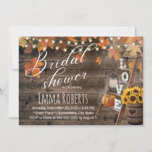 Rustic Autumn Leaves Love Ladder Bridal Shower starting at 2.40