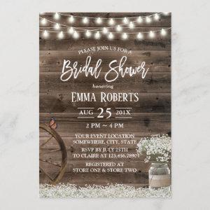 Rustic Baby's Breath Floral Barn Bridal Shower Invitation starting at 2.40