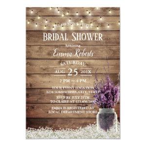 Rustic Baby's Breath Lavender Floral Bridal Shower Invitation starting at 2.45