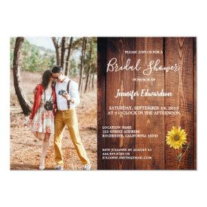Rustic barn wood photo sunflower country invitation starting at 2.51