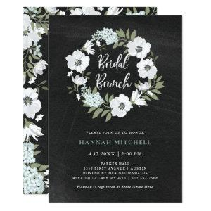 Rustic Black and White Floral | Bridal Brunch Invitation starting at 2.51