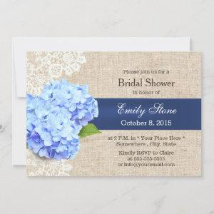 Rustic Blue Hydrangea Lace & Burlap Bridal Shower starting at 2.40