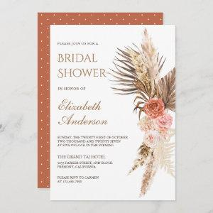 Rustic Boho Earthy Floral Pampas Bridal Shower starting at 2.66