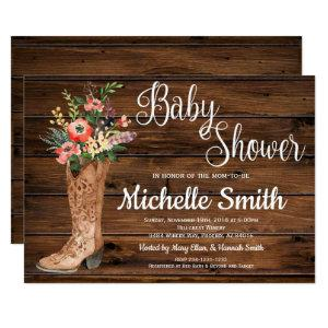 Rustic Boot Country Bridal Western Baby Shower Invitation starting at 2.45