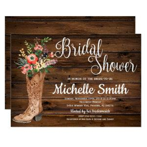Rustic Boot Country Bridal Western Bridal Shower Invitation starting at 2.45