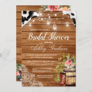 Rustic Boots Cowgirl Western Bridal Shower Invitation starting at 2.51