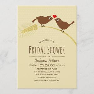 Rustic Bridal Shower | Country Love Birds Template starting at 2.25