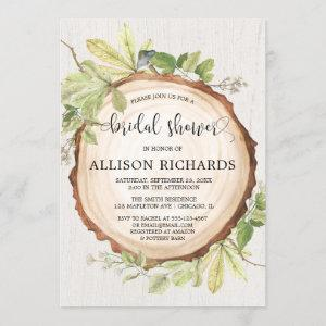 Rustic bridal shower forest woods theme invitation starting at 2.55