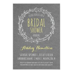 Rustic Bridal Shower invite in Gray and Yellow starting at 2.66