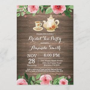 Rustic Bridal Shower Tea Party Invitation starting at 2.35