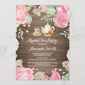 Rustic Bridal Shower Tea Party Invitation Floral starting at 2.35