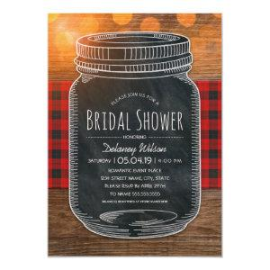 Rustic Bridal Shower Vintage Chalkboard Mason Jar Invitation starting at 2.25