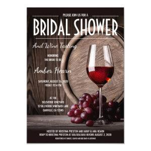 Rustic Bridal Shower Wine Tasting Invitation starting at 2.65