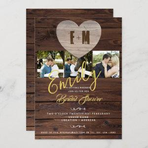 Rustic Bridal Shower with PHOTOS Invitations starting at 2.40
