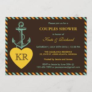 Rustic Brown Anchor Love Couples Shower Invitation starting at 2.51