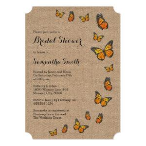 Rustic Burlap and Butterfly Invitation starting at 2.65