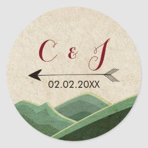 Rustic Camping Wedding stickers starting at 6.60