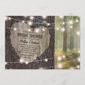 Rustic Carved Heart Tree Bridal Shower Invitation starting at 2.51