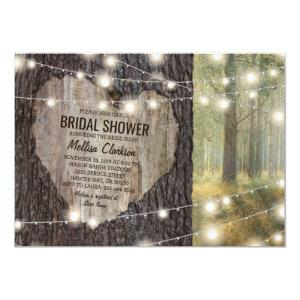 Rustic Carved Heart Tree Bridal Shower Invitation starting at 2.26