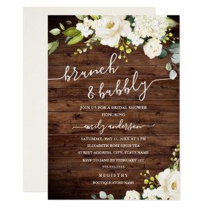 Rustic Champagne Floral Brunch And Bubbly Invitation starting at 2.40