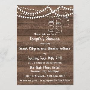 Rustic Charm String Lights Couple's Shower Invitation starting at 2.45