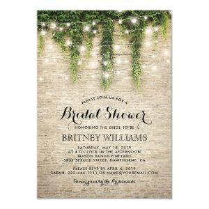 Rustic Chateau Stone Church Wedding Bridal Shower Invitation starting at 2.40
