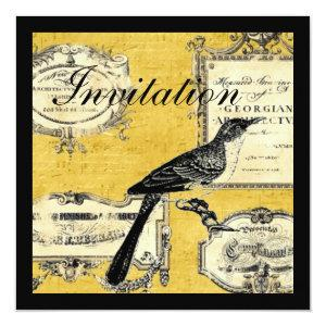 rustic chic country cottage french bird invitation starting at 2.67