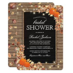 Rustic Country Autumn Fall Bridal Shower Invitation starting at 2.60