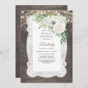 Rustic Country Chic Floral Bridal Shower Invitation starting at 2.35