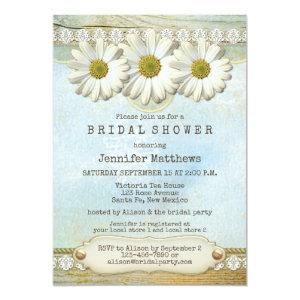 Rustic Country Daisy Bridal Shower Invitation starting at 2.66