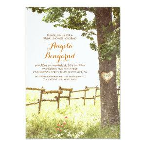 rustic country heart tree bridal shower invites starting at 2.66