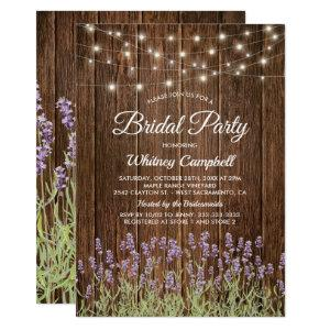 Rustic Country Lavender Lights Bridal Shower Invitation starting at 2.40