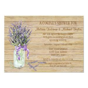 Rustic Country Mason Jar French Lavender Bouquet Invitation starting at 3.03