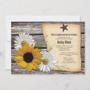 Rustic Country Sunflower Daisy Bridal Shower Invitation starting at 2.66